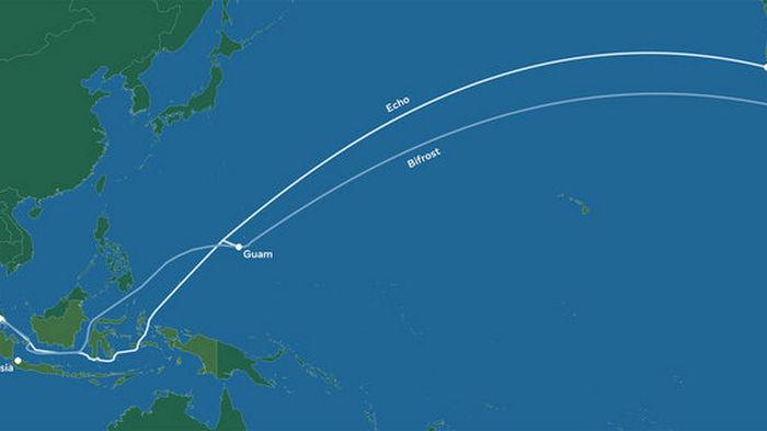 Google и Facebook проложат два интернет-кабеля между США и Азией