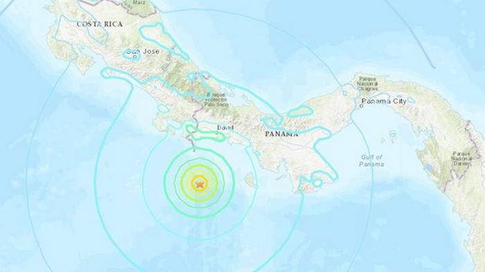 На границе Коста-Рики и Панамы зафиксировали мощное землетрясение