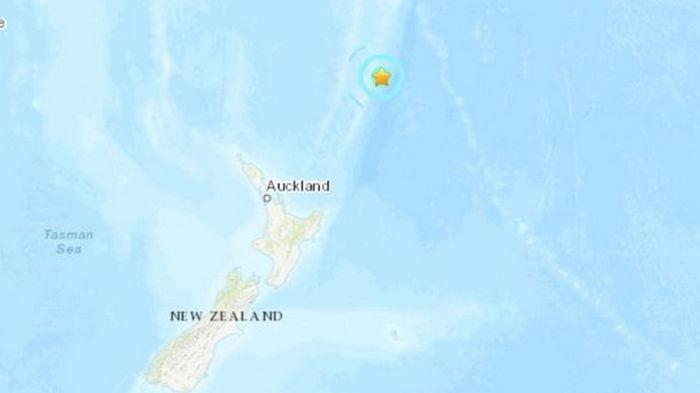 Возле Новой Зеландии произошло сильное землетрясение