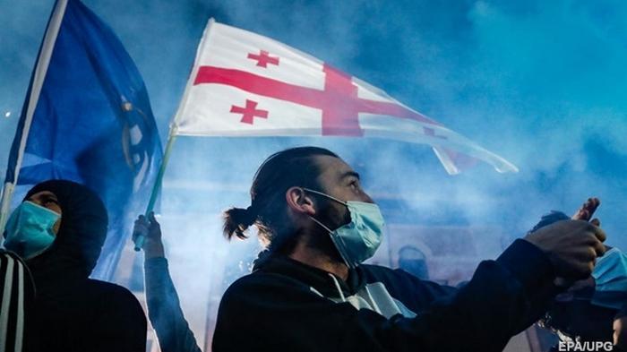 В Грузии начались протесты из-за выборов